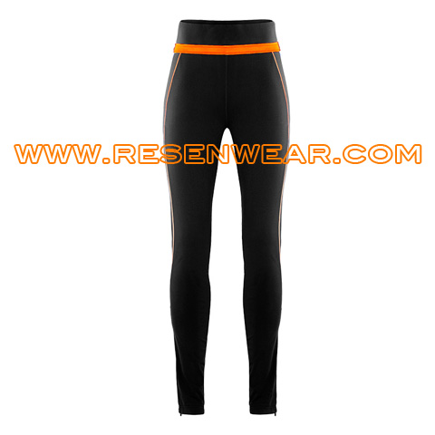 Ladies long running leggings sports tights pants RSRPW-0035 front