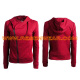 Womens sweater hoodie with zipper cotton sweater coat RSSWW-0052 front&back