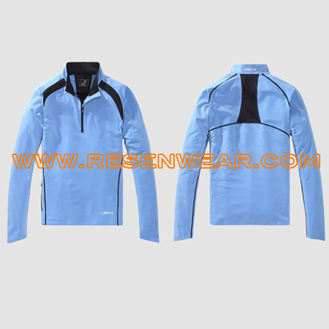 Running tops with pockets womens training tops RSTTW-0023 front&back